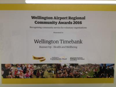 Wellington Airport Community Awards - Runner up